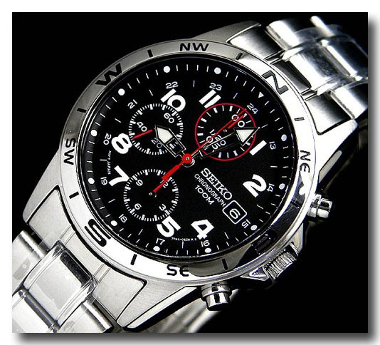 SEIKO 腕時計セイコー クロノグラフ メンズ SND375P画像4