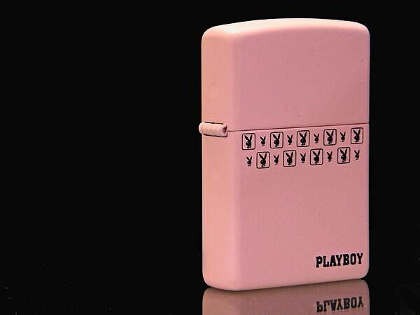 【ZIPPO】PLAY BOY ピンクマットジッポー スモールロゴ24571画像1