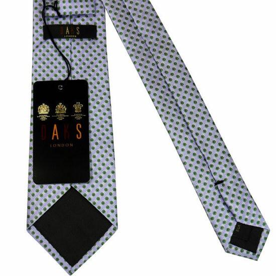 DAKS ダックス ネクタイ d11514color1 パープル系 約8cm ドット柄 ブランド ビジネス