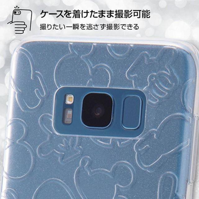 Galaxy S8 SC-02J/SCV36 ケース カバー ディズニーキャラクター TPUソフトケース キラキラ ミッキー クリア レイアウト RT-DGS8A/MKC