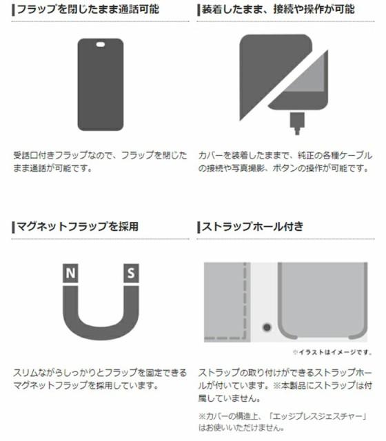 iPhoneX ケース カバー ソフトレザーケース ステッチ 磁石付 エレコム PM-A17XPLFN