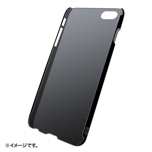 サンワサプライ iPhone 6 Plus用ラバーコーティングハードケース(ブラック) PDA-IPH010BK