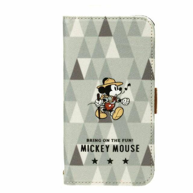 iPhone 7/6s/6用 フリップカバー UNISTYLE / ミッキーマウス / カーキグリーン PGA PG-DFP226GR