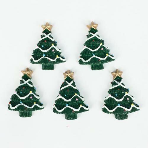 クリスマスツリーアクリルパーツ/1個販売 おもしろ ユニーク 面白い 個性的 アクセサリー ピアス パーツ プラスティック イヤリング 貼り
