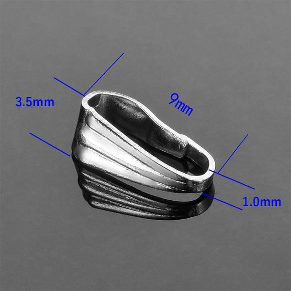 プッシュステンレスバチカン(9.0mmx3.5mm) サージカルステンレス パーツ ペンダント ネックレス DIY用 押して入れる 上の部分 ペンダン