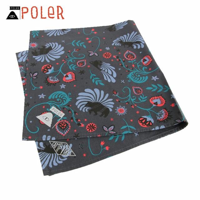 ポーラー POLER 正規販売店 バンダナ スカーフ BANDANAS 636024-BLK BLACK