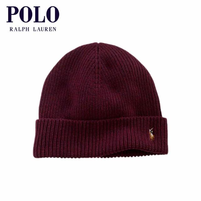 ポロ ラルフローレン POLO RALPH LAUREN 正規品 ニットキャップ Signature Cuffed Merino Hat BURGUNDY