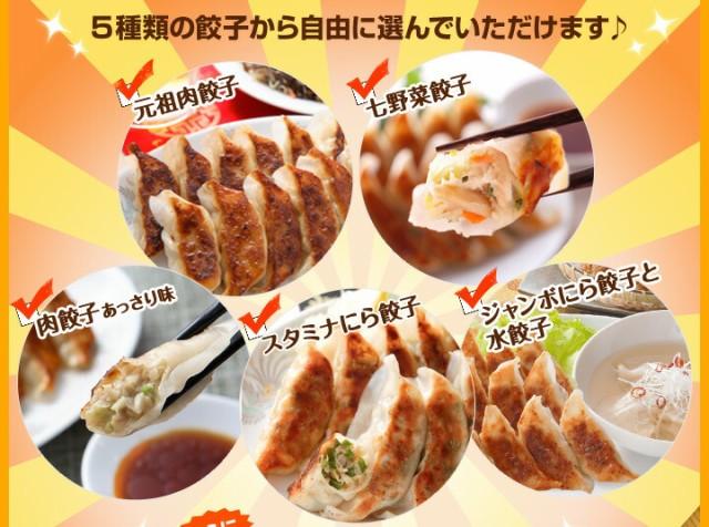 5種類の餃子から自由に選んでいただけます♪
