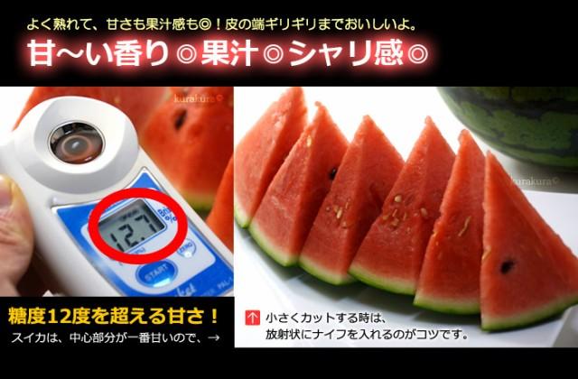 松本ハイランド大玉スイカ糖度の目安