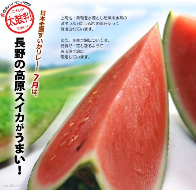 初夏7月からは長野松本ハイランド西瓜がうまい!