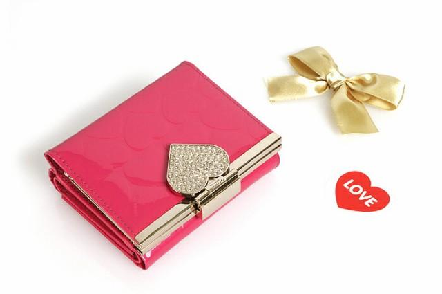 【送料無料】【OMNIA レディース 二つ折り財布】 omnia 本革 財布 札入れ 可愛い かわいい 小銭入れあり レザー shes omnia