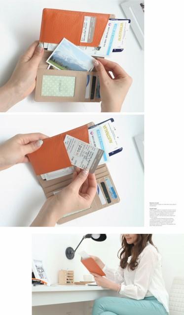 パスポート ケース スキミング 防止 かわいい 革 航空券 レザー カバー 牛革 トラベル 旅行 パスケース passport case