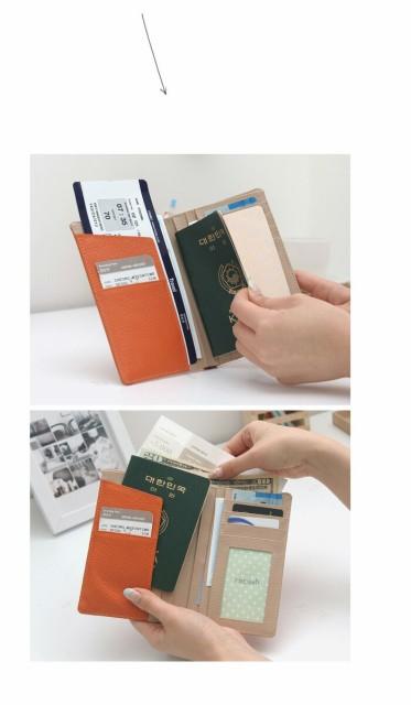 パスポートケース 首下げ スキミング防止 かわいい 革 スキミング 航空券 カウ レザー パスポート ケース カバー 牛革 トラベル 旅行 革 パスケース