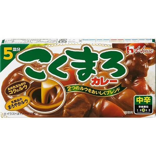 ハウス食品 こくまろカレー(中辛) 88g×10入