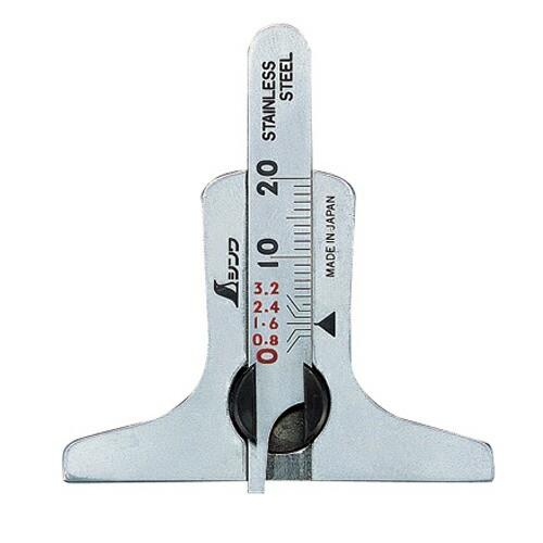 シンワ・タイヤ溝測定ゲージ・19300・大工道具・測定具・その他測定・製図2・DIYツールの画像