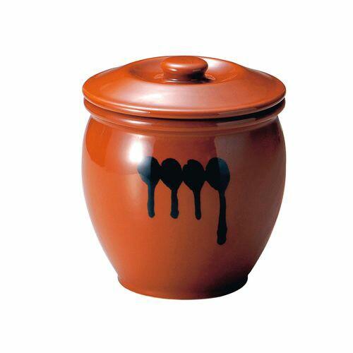 ヤマキイカイ 陶器 蓋付半胴かめ 4号 7.2L DHV1804