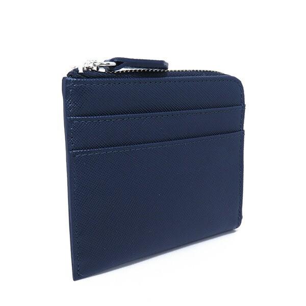 シルバノ ビアジーニ L字型ファスナー 短財布 メンズ 7848041 ネイビー【送料無料】