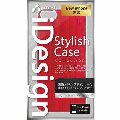 エアージェイ iphone6 4.7インチ用ケース AC-P47-MT-RD アルミパネル レッド【】(代引き不可)