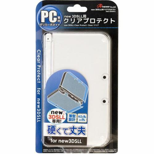 アンサー new 3DS LL用 「クリアプロテクト」 (クリア) ANS-3D059CL (代引不可)