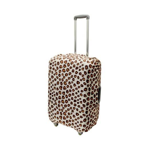 ミヨシ 撥水加工付スーツケースカバ- Mサイズ ヒョウ柄 MBZ-SCM2/LP  雑貨 キャリングバッグ(代引不可)