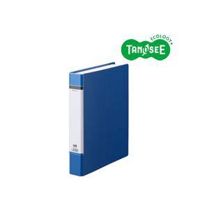 (まとめ)TANOSEE Oリングファイル(貼り表紙) A4タテ リング内径38mm 青 20冊