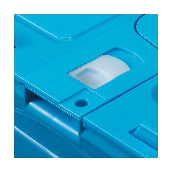 (まとめ) TANOSEE 折りたたみコンテナ フタ付 50L アイボリー/透明 1台 【×2セット】