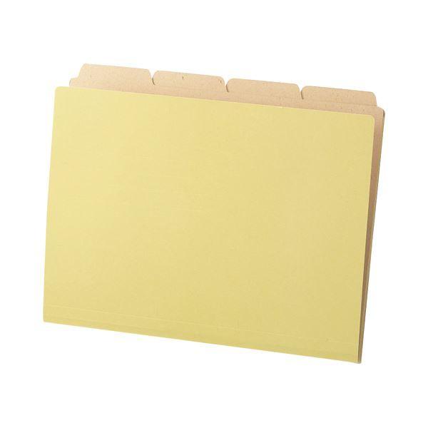 (まとめ) TANOSEE カットフォルダー4山(クラフト厚紙タイプ) A4 1パック(40冊) 【×5セット】