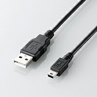 [ELECOM(エレコム)] ゲーム用USBケーブル(A-miniB) U2C-GMM30BK(代引き不可)