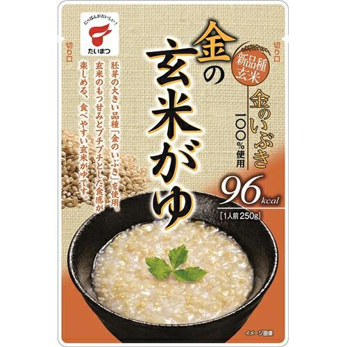 【ケース販売】金の玄米がゆ 250g×10個 たいまつ食品 P06Dec14