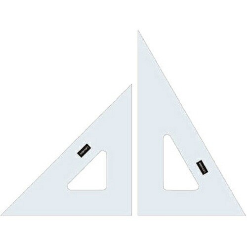 ウチダ 三角定規 24cm 2mm厚 目盛無 マービー