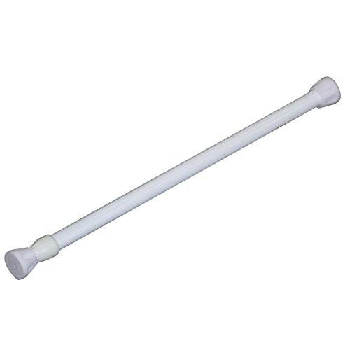 平安伸銅工業 突っ張り棒 ホワイト 耐荷重8~4kg 取付寸法32~46cm パイプ直径1.3・1.0cm RPW-1