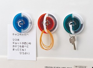便利フック ハーフサークル1P(日本製) ハーフサークル1P(アソート)・グリーン/160点・オレンジ/160点・ブルー/160点(代引き不可)