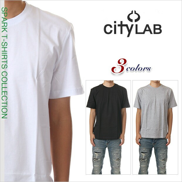シティラブ Tシャツ CITY LAB 半袖 Tシャツ 無地 メンズ レディース 大きいサイズ ホワイト ブラック グレー 白 黒