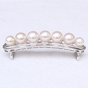 帯留め 真珠 パール あこや本真珠 和装小物 和装ジュエリー