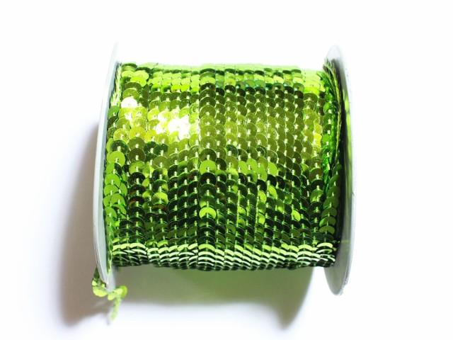 (406)【大特価品】スパンコールブレード ライトグリーン 1m