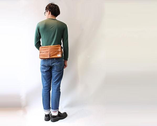 吉田カバン ポーター PORTER フリースタイル ウエストバッグ モデル画像2