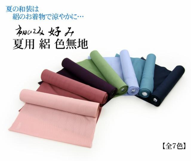 夏用 絽 色無地反物 市田ひろみ 好み 【お仕立て付き】反物