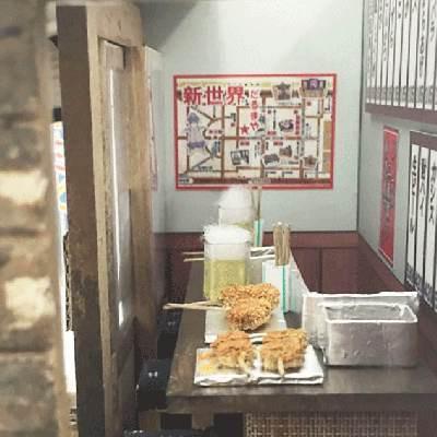 ビリーの手作りドールハウスキット ナニワの粉もん屋キット「 ナニワの串カツ屋さん 」 【串かつ屋さん 模型 ミニチュア 手芸】