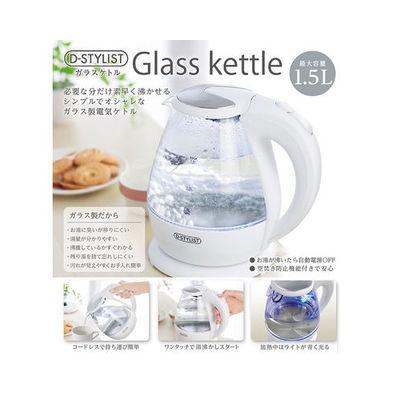 ピーナッツクラブ  【送料無料】 KK-00343 D-STYLISTガラスケトル1.5L (KK00343) 【新品・税込】