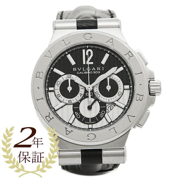 割引クーポン ブルガリ 時計 メンズ BVLGARI DG42BSLDCH ディアゴノ カリブ303 クロノグラフ 腕時計 ウォッチ シルバー/ブラック, 天然だしのニッコーフーズ 7e6a06ea