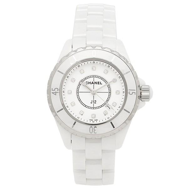 new concept 3d9e2 fcf9a シャネル 腕時計 CHANEL J12 H1628 33MM 12Pダイヤモンド ホワイトセラミック レディースウォッチシリアル有 au  Wowma!(ワウマ)