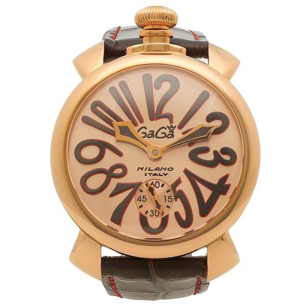 【GINGER掲載商品】 ダークブラウン MILANO メンズ 0:00~23:59】ガガミラノ 【全品P10% 腕時計 GAGA 5011.11S-DBR 3/13 手巻き ピンクゴールド-その他腕時計
