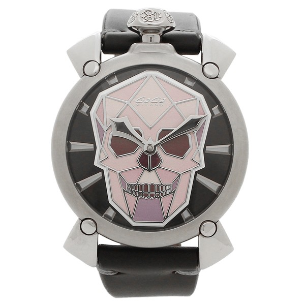 訳あり商品 ガガミラノ 腕時計 メンズ GAGA MILANO 5060.01S-BLK マルチカラー シルバー ブラック, 荻町 48337574