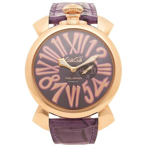 new product 0ea94 69430 ガガミラノ 腕時計 メンズ GAGA MILANO 5085.03 パープル ピンクゴールド|au Wowma!(ワウマ)