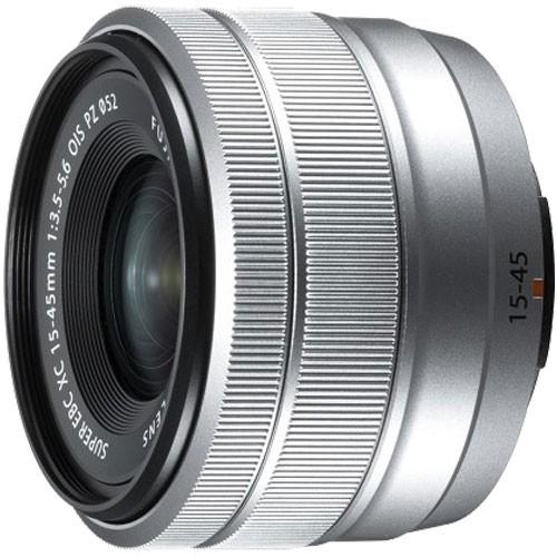 素晴らしい XC15-45mmF3.5-5.6 PZ シルバー フジフイルム OIS-カメラ