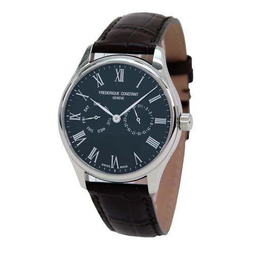 高品質の人気 フレデリック・コンスタント メンズ腕時計 スリムライン FC259BR5B6DBR ベルト:ダークブラウン-腕時計メンズ