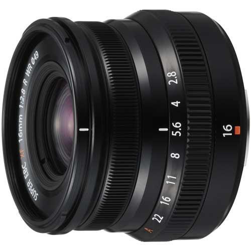 高質で安価 R ブラック フジフイルム WR XF16mmF2.8-カメラ