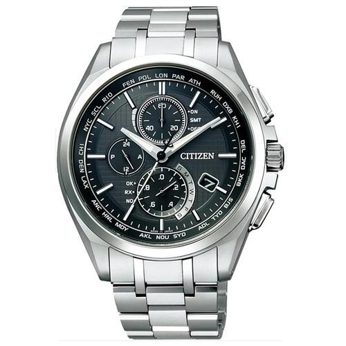【破格値下げ】 シチズン メンズ腕時計 アテッサ エコ・ドライブ電波時計 ダイレクトフライト AT8040-57E 【正規品】, 和賀郡 b4fb15ce
