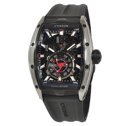 素晴らしい価格 ジェットライナー オートマティック チャレンジ CVT-JET2-PS P-S TTBKTT-BK クストス メンズ腕時計 II-腕時計メンズ
