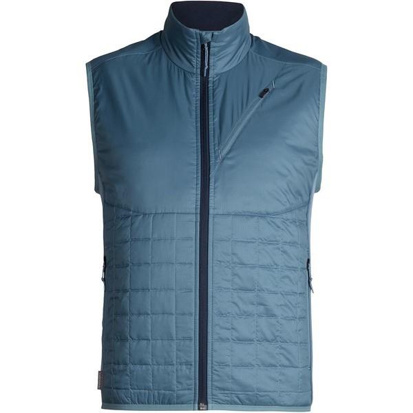 割引発見 アイスブレーカー メンズ ベスト Helix トップス Helix MerinoLOFT Vest - - Men's ベスト Granite Blue/Midnight Navy, 田子町:e13766de --- flicflachockey.de